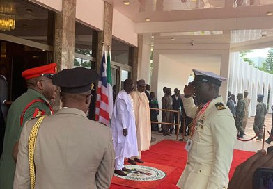 George Weah Visits Buhari At Presidential Villa