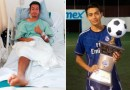 Mexican Star Footballer Loses Leg To Electric Shock
