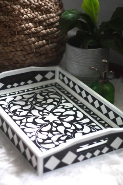 Beautiful DIY faux bone inlay tray