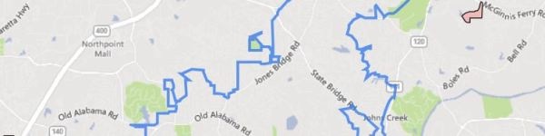 North Fulton GA City Of Johns Creek Map