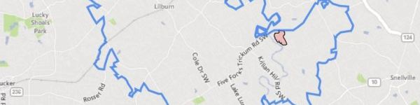 City Of Lilburn GA Map Location