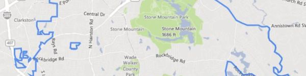 City Of Stone Mountain GA Map