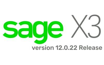Sage X3 version 12.0.22
