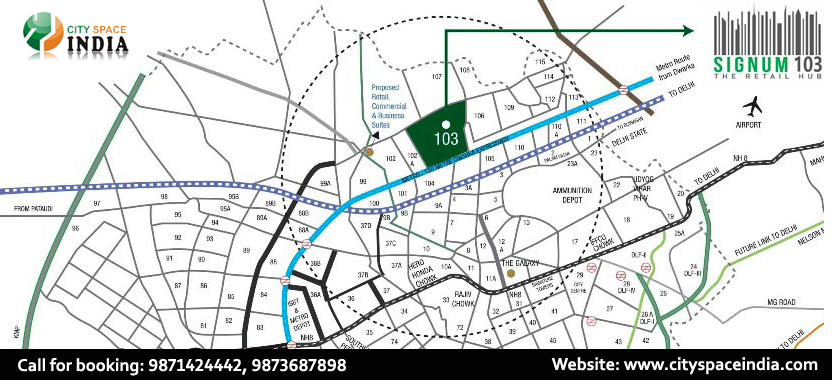 Signature Global Signum 103 Location Map Sector 103 Dwarka Expressway , Gurgaon
