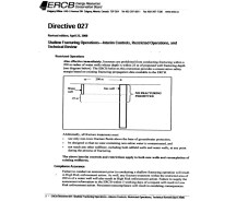 6 ERCB fracturing regulations