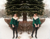 moments in time - steve madden cape, Purr Calgary infinity scarf, style trends