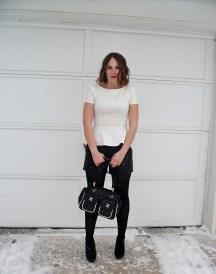 Black & White, peplum, leather, chanel