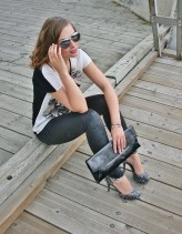 aviators and a patent envelope clutch