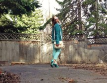 spring in teal and leather and aviators