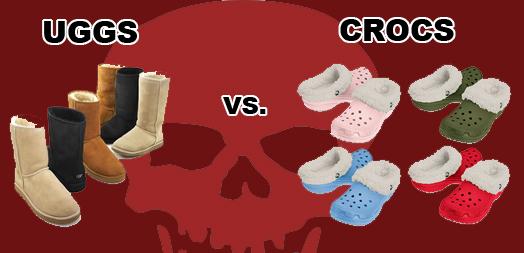 ceac3b299493a8 CLOTHING CRIME SHOWDOWN  UGGS VS. CROCS – The City That Breeds