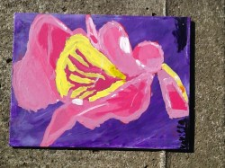 Canvas Flower Art 002