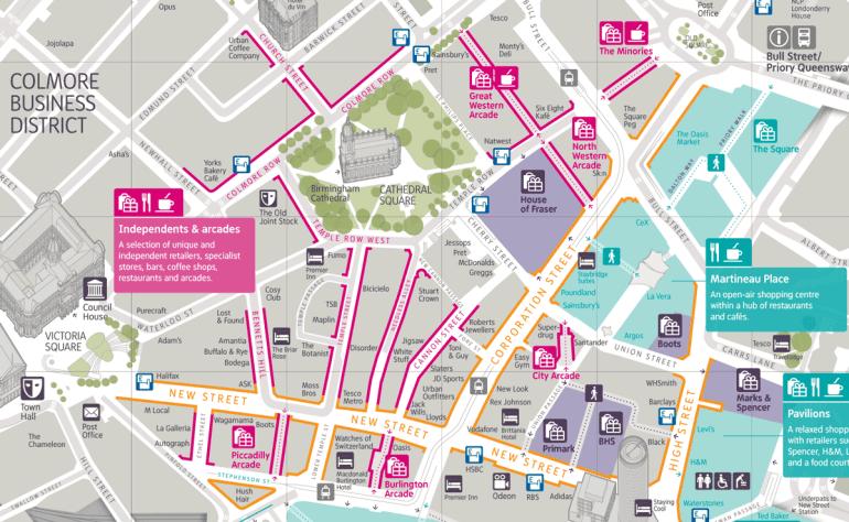 Interconnect Birmingham shopping map