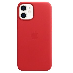 Apple iPhone 12 mini Leather Case w MagSafe - (PRODUCT)RED