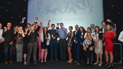 All the winners for the Lincoln College Awards 2016. Photo: Steve Smailes for Lincolnshire Business