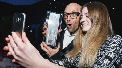 Jason Bradbury, former student at Lincoln College and TV presenter was a guest speaker at the awards. Photo: Steve Smailes for Lincoln College Awards