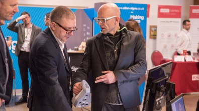 TV personality Jason Bradbury was one of the panelists at the Lincolnshire Business Expo 2017. Photo: Steve Smailes for Lincolnshire Business