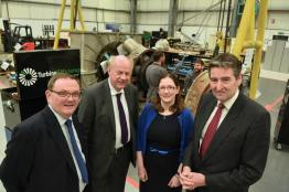 Work and Pension Secretary Damian Green at Turbine Efficiency Group. Photo: Steve Smailes for Lincolnshire Business