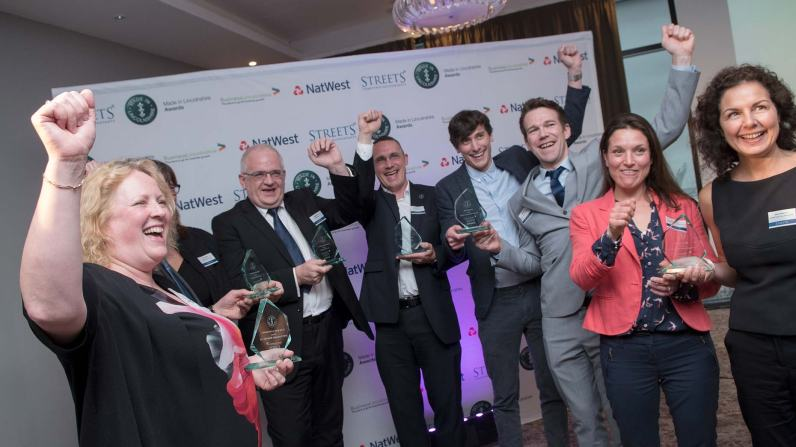 The 2017 award winners. Photo: Steve Smailes for Lincolnshire Business