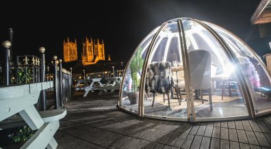 The dining domes at Lincoln TapHouse and Kitchen. Photo: Steve Smailes for Lincolnshire Business