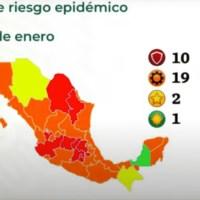 Pese a aviso del gobierno de la CDMX, Salud federal coloca a la capital en semáforo rojo