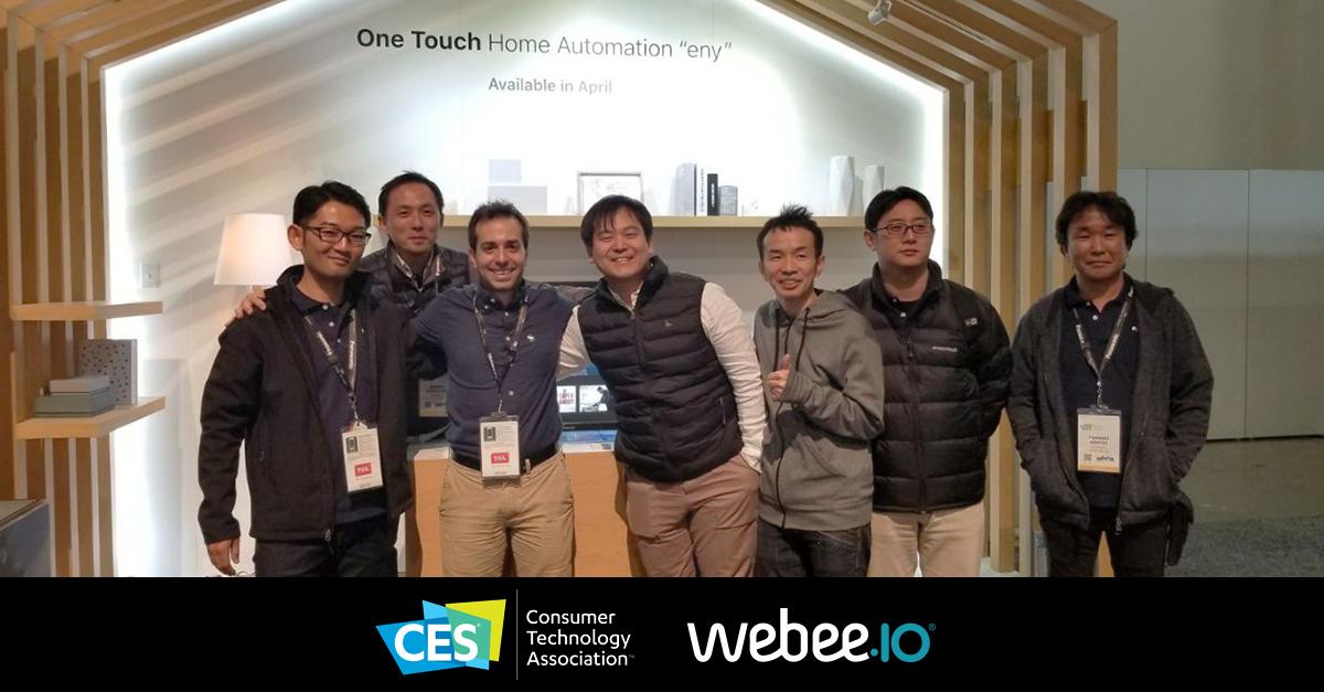 Webee (Proyecto acelerado por INNOVA SV) presente en la CES (Consumer Electronics Show) 2018