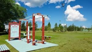 Estación de Gimansio Outdoor 100% fabricada con materiales reciclados.