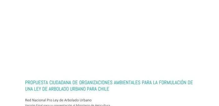 Propuesta Ley de Arbolado Urbano para Chile
