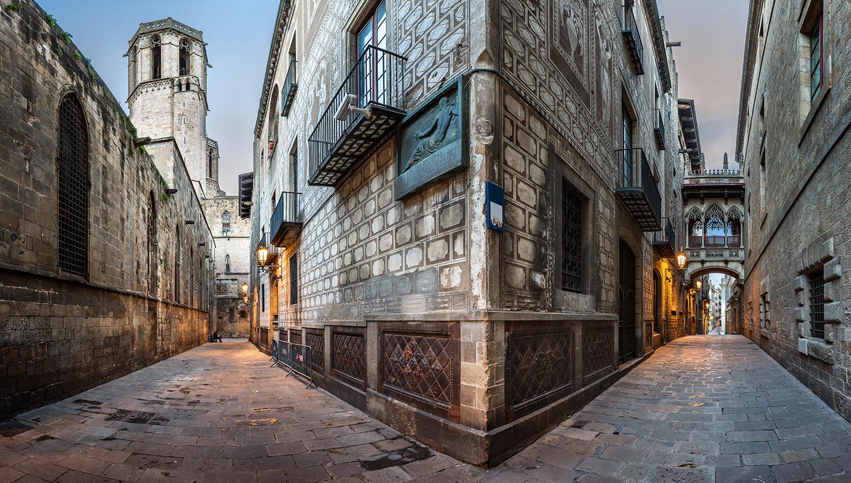Foto del Barrio Gótico de la ciudad de Barcelona