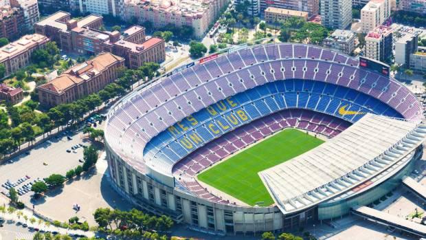 Foto del Estadio de Fútbol Camp Nou del Barcelona Club de Fútbol en la ciudad de Barcelona