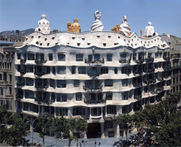 Foto de la Casa Milá de la ciudad de Barcelona