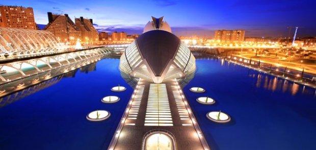 Foto de la Ciudad de las Artes y las Ciencias en Valencia