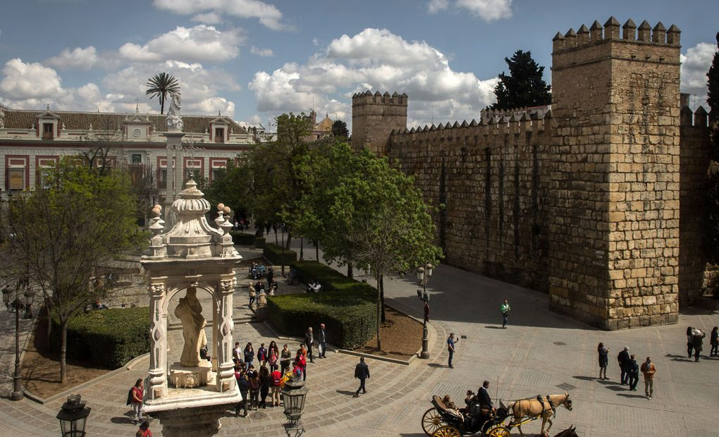 Foto del Alcázar en la ciudad de Sevilla