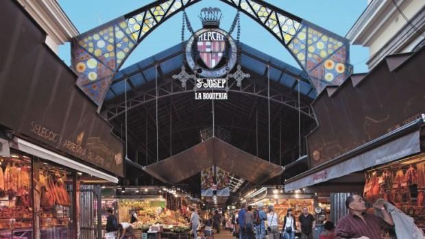 Foto del Mercado de la Boquería en la Rambla de la ciudad de Barcelona