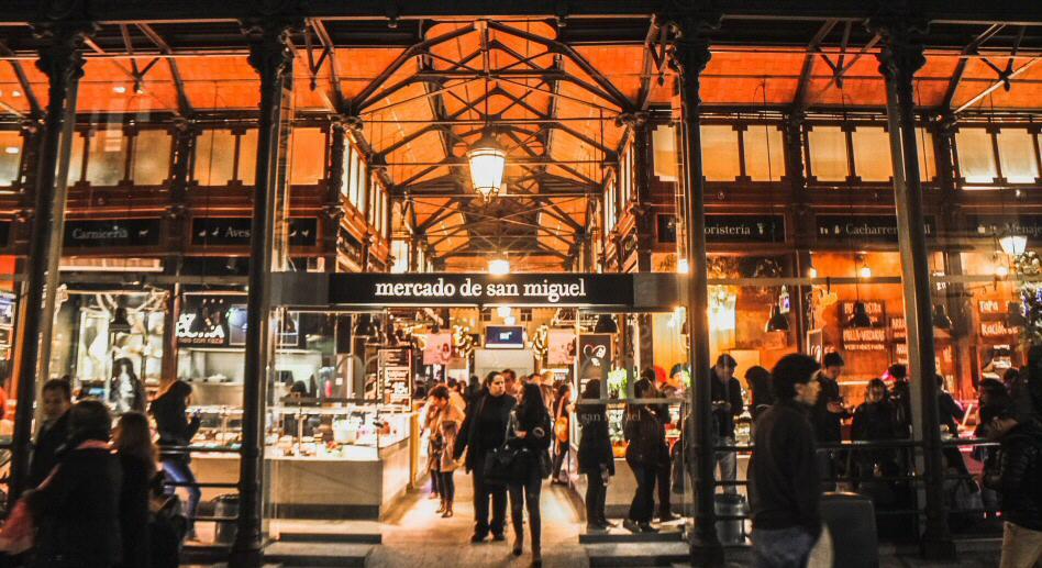 Foto del Mercado de San Miguel en la ciudad de Madrid
