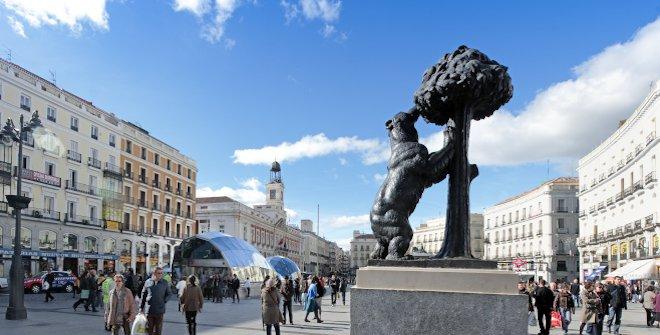 Foto de la Puerta del Sol en la ciudad de Madrid