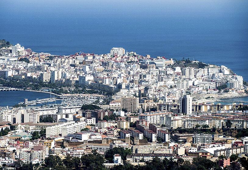 vista panoramica ciudad de ceuta