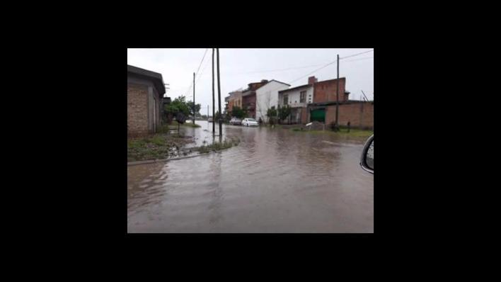 Lluvia intensa en Neuquén hace más de 24 horas