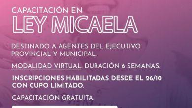 Photo of Se dictará capacitación sobre Ley Micaela a agentes del Ejecutivo Provincial y Municipal