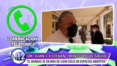 """Photo of Ministro Esteban :""""El uso del barbijo fue vital para evitar la transmision comunitaria en Salta"""""""