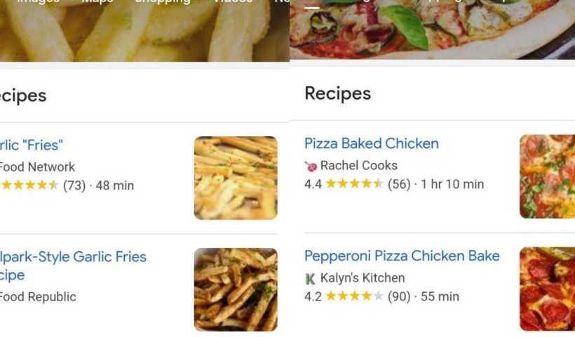 Google essaie de changer l'apparence du moteur de recherche en fonction de ce que vous recherchez