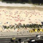 Playa de Copacabana desde la terraza del hotel Othon Palace. Enero de 2012