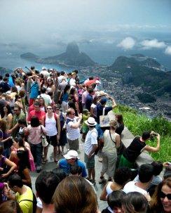 Vista de Botafogo y el Pão de Açúcar desde el morro Corcovado. 2009