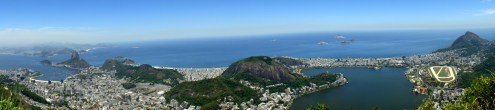 De izq. a der.: Bahía de Guanabara, Pão de Açúcar, Botafogo, Copacabana, morro dos Cabritos, lagoa Rodrigo de Freitas, Ipanema, Leblon, Gávea y el hipódromo. 2014