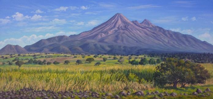 """""""Los volcanes de Colima desde Queseria"""", Jorge Obregón"""