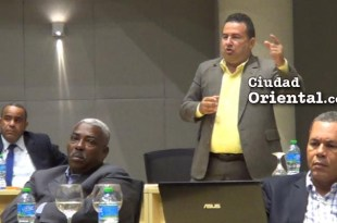 Daneris Santana interviene en la sesión de la Sala Capitular