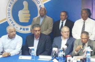 Dirigentes del PRM