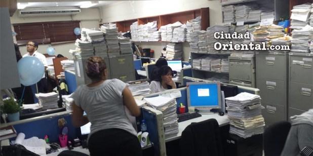 Vista parcial del archivo de expedientes del Palacio de Justicia de la provincia Santo Domingo