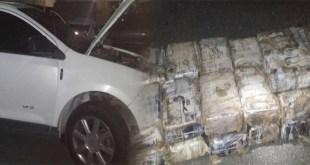 En este vehícuoo era transportada la cocaína, según la DNCD