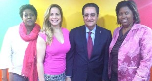 Patricia Arache, Tatiana Rosario, Iván Grullón y Rosa Alcántara
