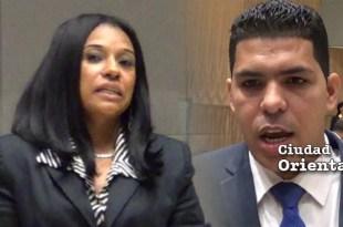 Giselina De los Santos, DxC, y Miguel David Pacheco, PQDC.